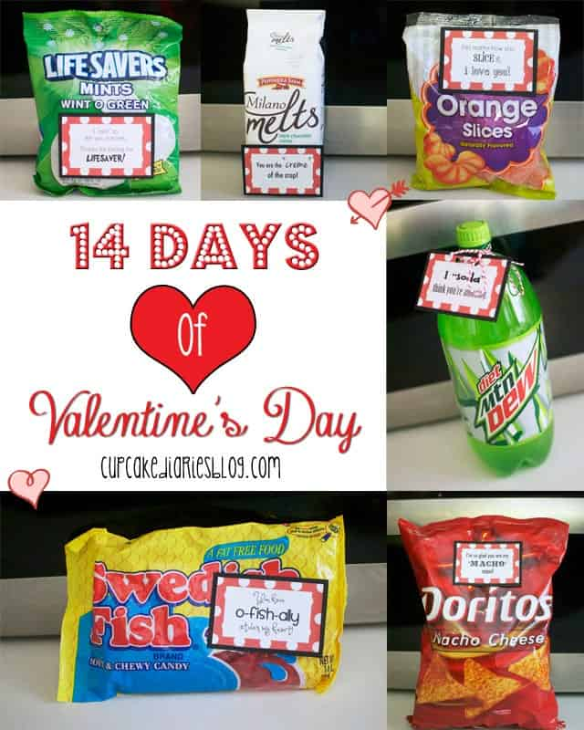 14 Days of Valentine's Day with FREE Printable Tags ...