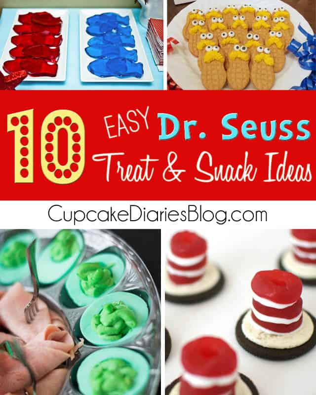 Whether you're celebrating a child's birthday or Read Across America, these Dr. Seuss treats and snacks are the perfect touch for the party!