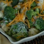 Broccoli Cauliflower Salad