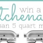 KitchenAid Artisan 5-Quart Mixer GIVEAWAY!