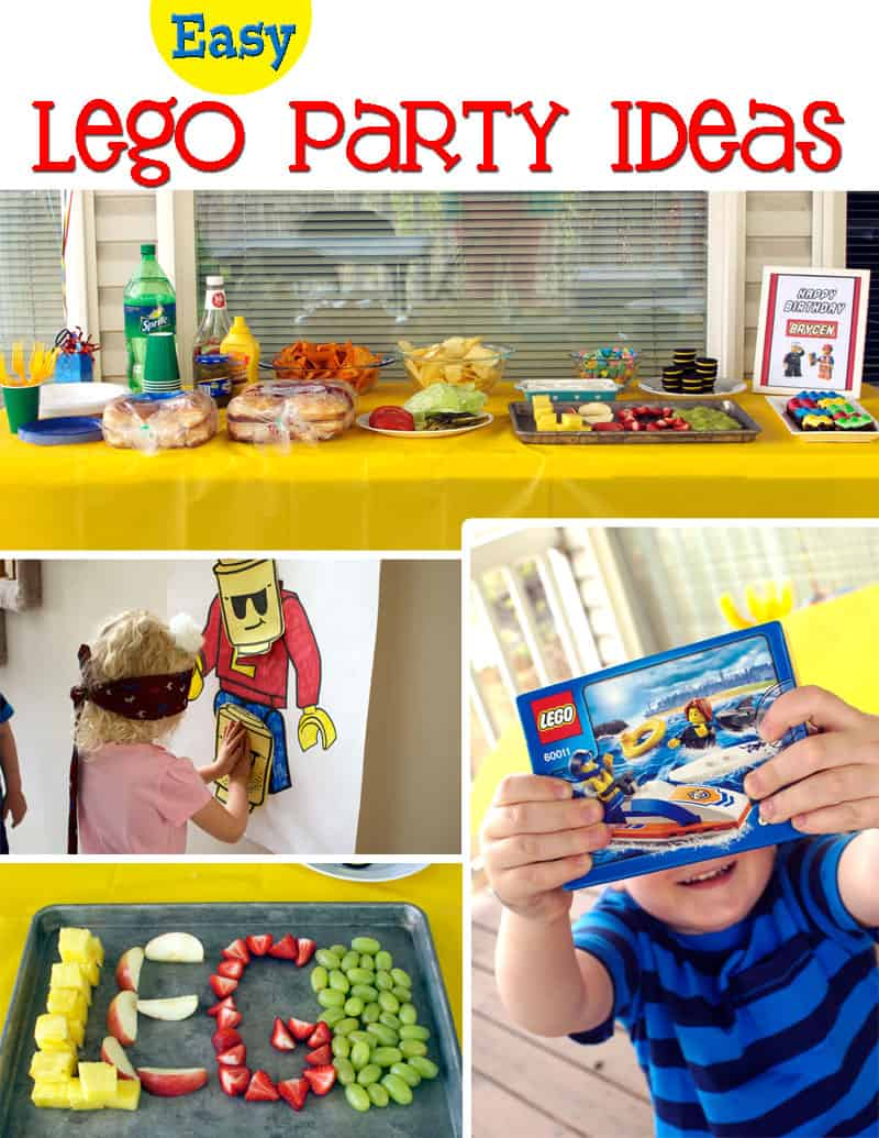 easy party decorations easy lego birthday ideas cupcake diaries 10230