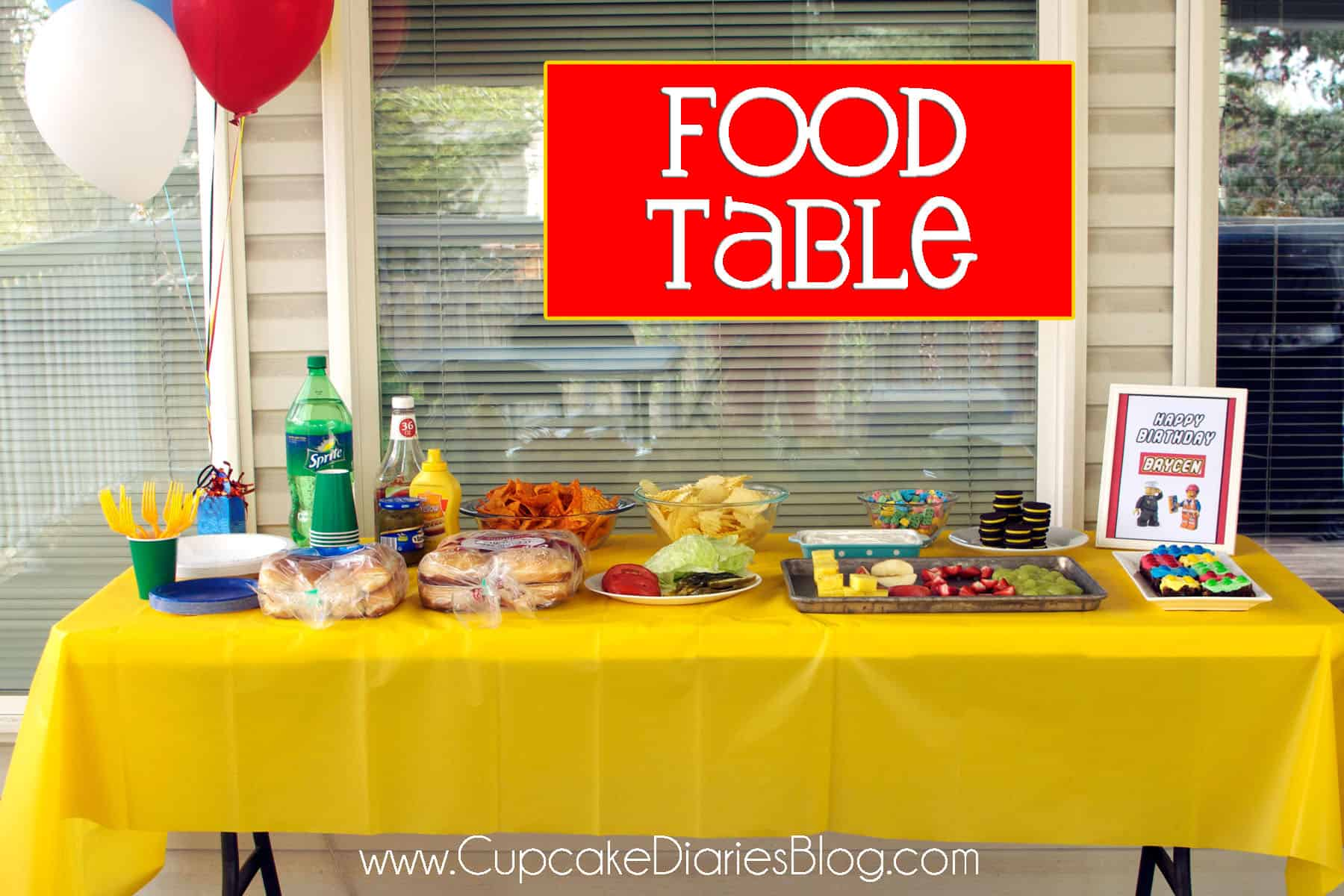 Birthday Party Dinner Ideas For Kids Part - 50: Foodtable