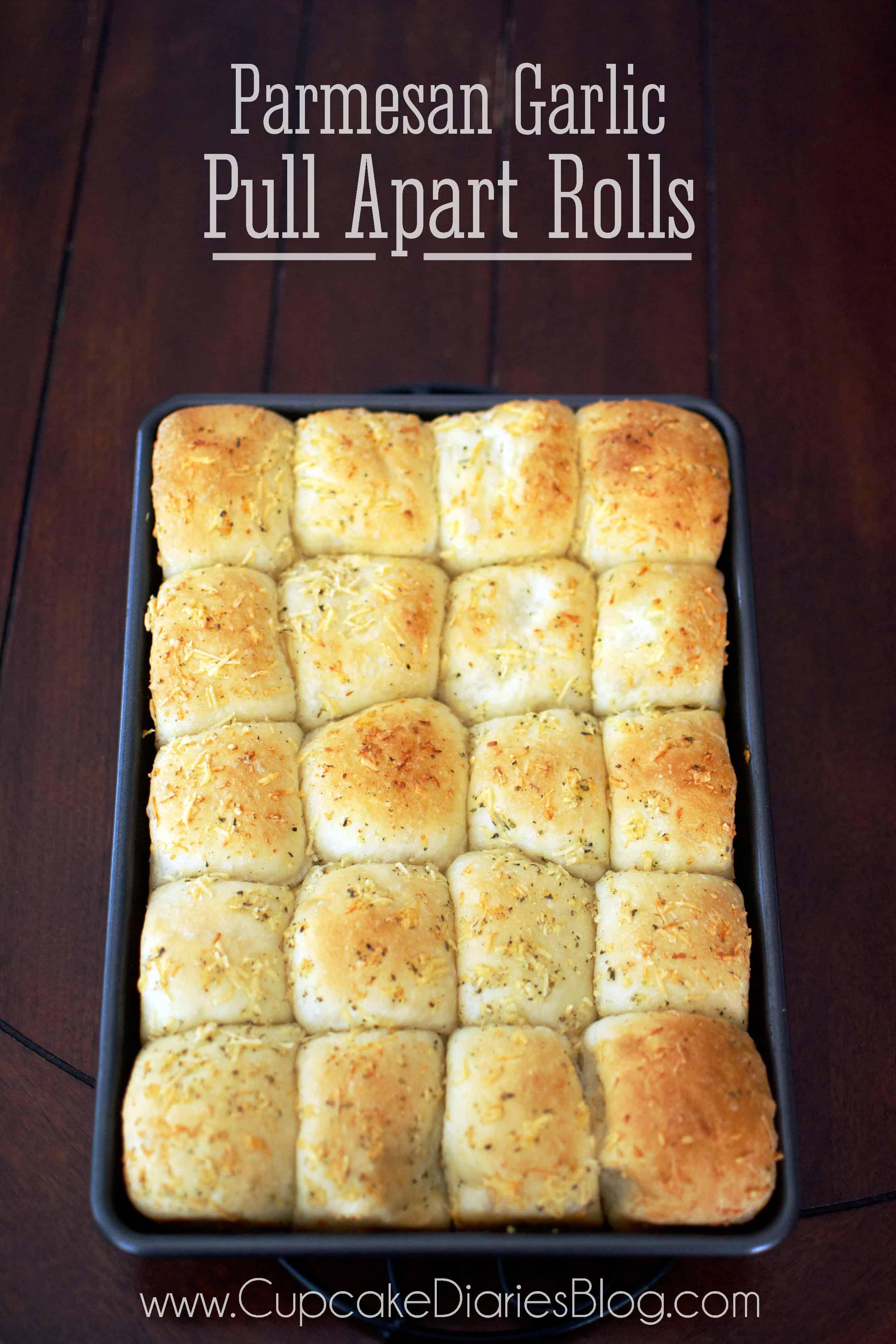 Parmesan Garlic Pull Apart Rolls Cupcake Diaries