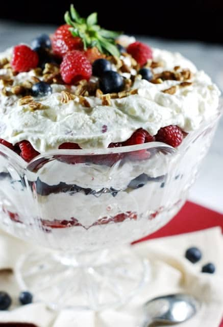 Triple Berry Punch Bowl Cake 5