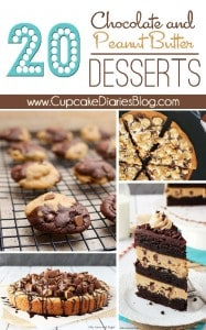 20 Chocolate and Peanut Butter Desserts