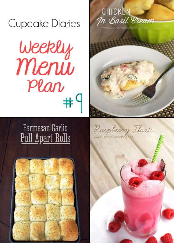 Cupcake Diaries Weekly Menu Plan #9