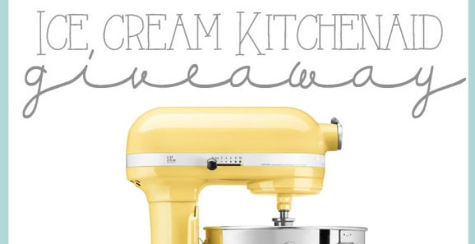 Ice Cream KitchenAid Giveaway!