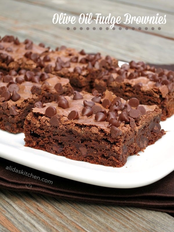 Olive Oil Fudge Brownies
