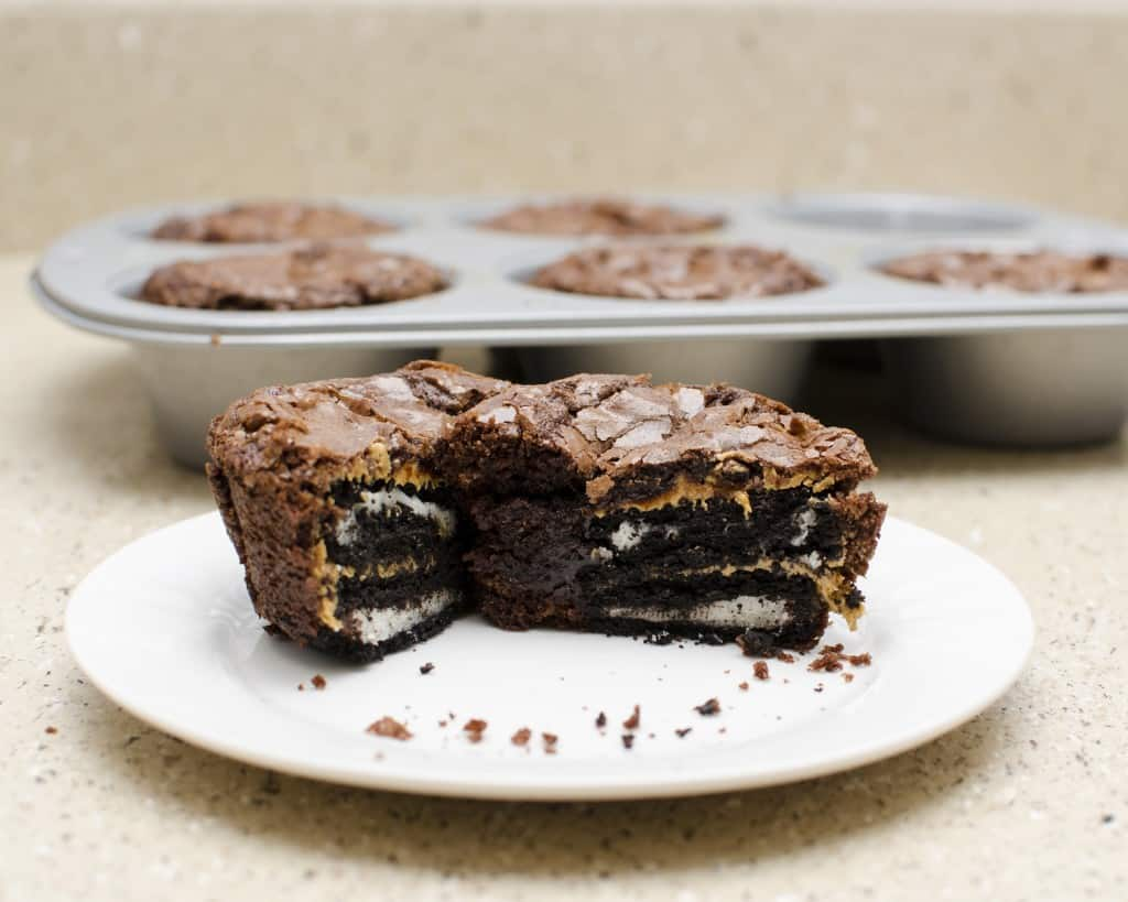 Peanut Butter Oreo Brownie Cups
