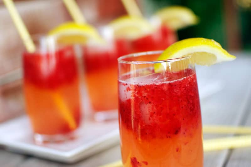sparkling strawberry lemonade prepared lemonade concentrate or ...
