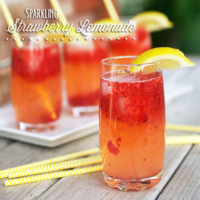 Easy sparkling strawberry lemonade recipe – Food ideas recipes
