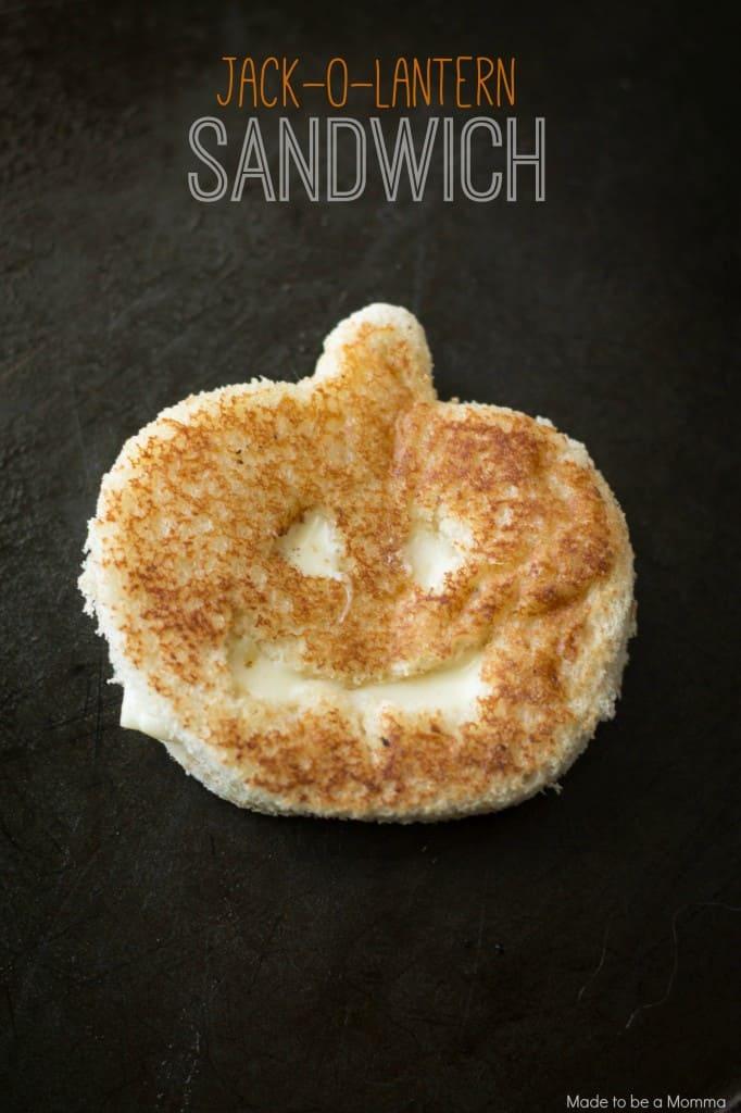 Jack-o-Lantern Sandwich