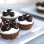 Chocolate Cranberries & Cream Brownie Bites