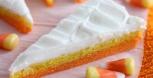 Candy Corn Sugar Cookie Bars {30 Days of Halloween – Day 23}