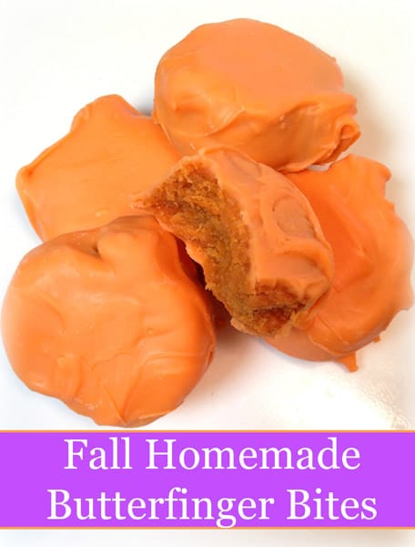 Fall Homemade Butterfinger Bites