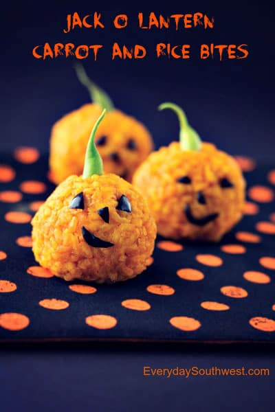 Jack-o-Lantern Carrot and Rice Bites