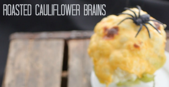 Roasted Cauliflower Brains 30 Days Of Halloween Day 24