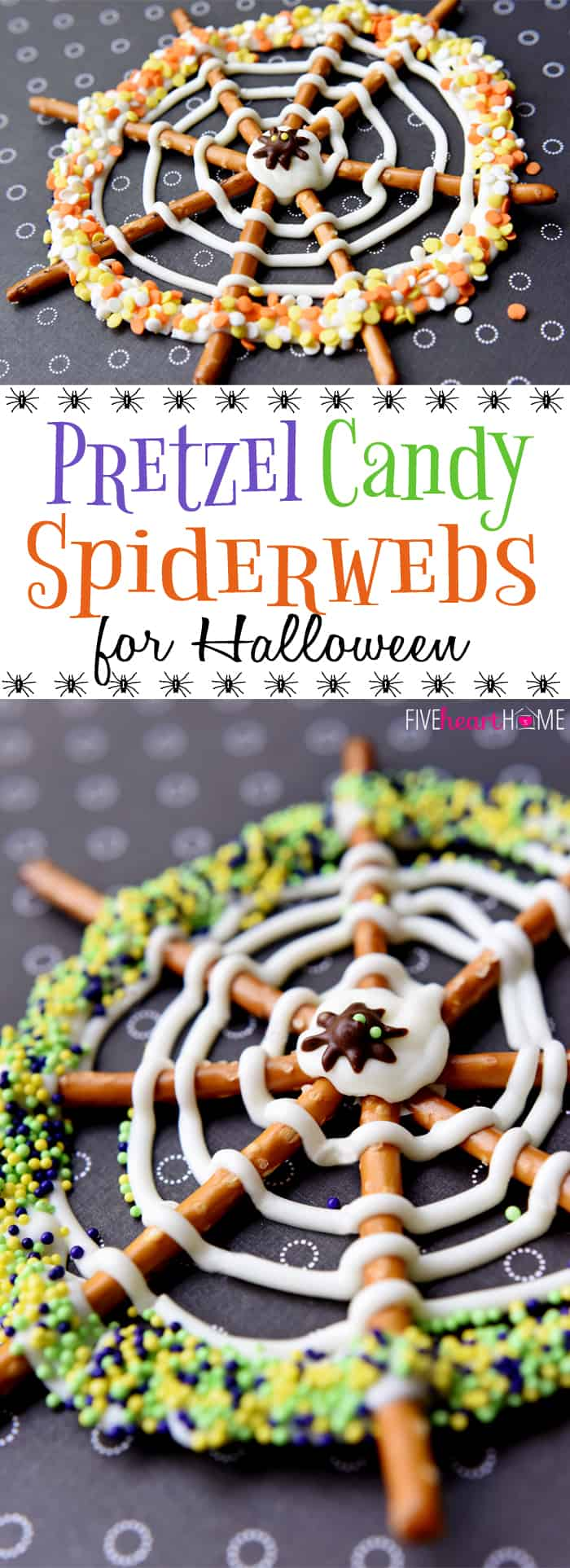 Pretzel Candy Spiderwebs