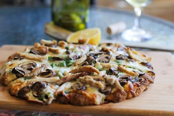 Chicken-Mushroom-Pesto-Pizza