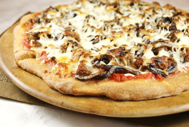 Sausage-Balsamic Onion Pizza