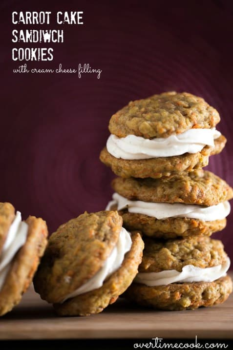 Carrot-Cake-Sandwich-Cookies-on-OvertimeCook.com_