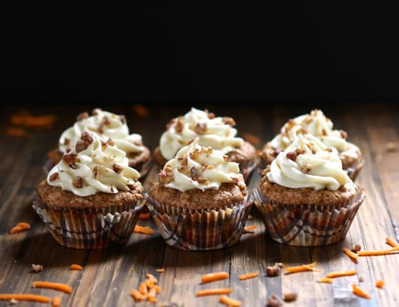 Carrot Cupcakes from Simply Sated