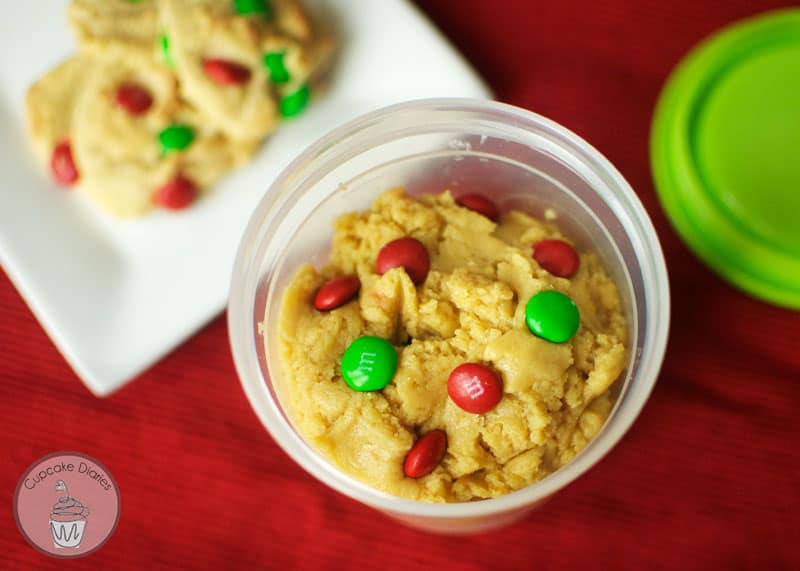 Cookie Dough Christmsa Neighbor Gift with FREE Printable Tag