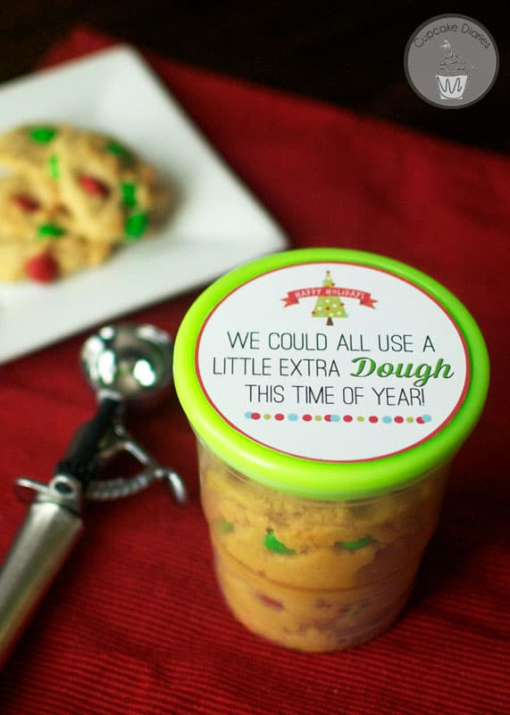 Cookie Dough Christmas Neighbor Gift with FREE Printable Tag