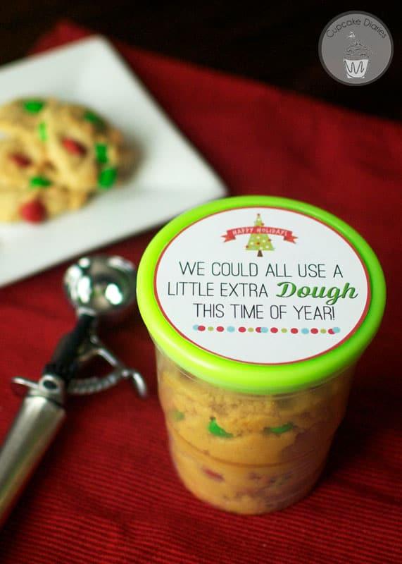 Cookie dough neighbor gift with free printable tag cupcake diaries cookie dough christmas neighbor gift with free printable tag negle Image collections