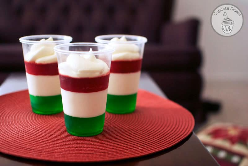 Holiday Jello Cups