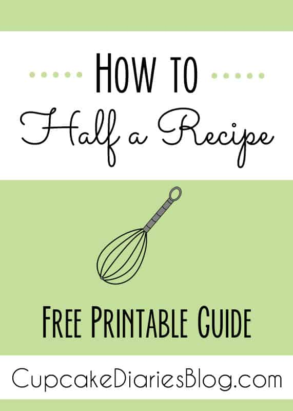 How to Half a Recipe