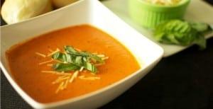 Creamy Tomato Basil Soup + Blendtec Giveaway!