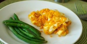 easy-chicken-casserole-with-goldfish-cracker-topping-header