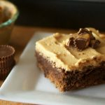 Peanut Butter Cup Brownies with Peanut Butter Frosting
