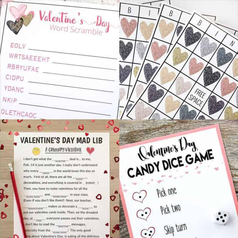 Look no further for Valentine's Day games for kids! These four games are printable and FREE!