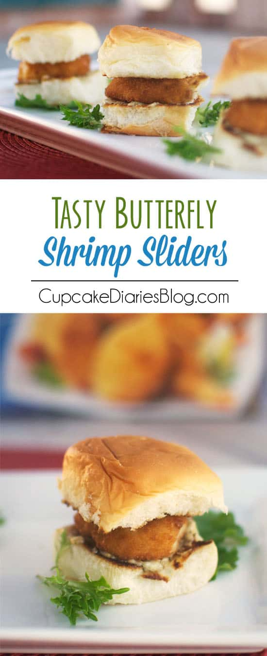Tasty Butterfly Shrimp Sliders - Deliciously easy sliders featuring crispy butterfly shrimp and a creamy, tangy dressing. These are so good! #SamsClubSeafood #Ad