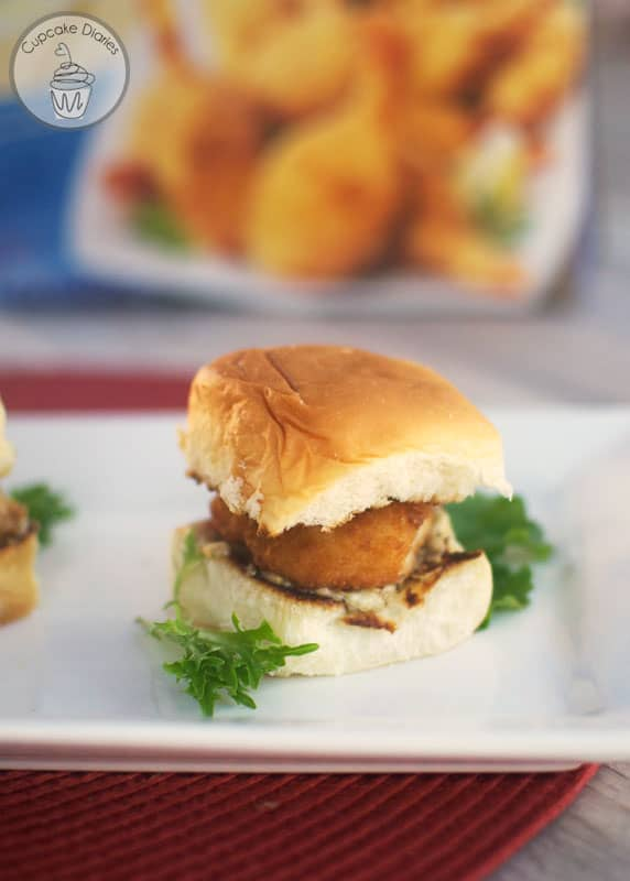 Tasty Butterfly Shrimp Sliders - Deliciously easy sliders featuring crispy butterfly shrimp and a creamy, tangy sauce. These are so good! #SamsClubSeafood #Ad
