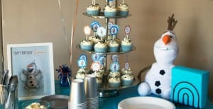 Simple Olaf Birthday Party