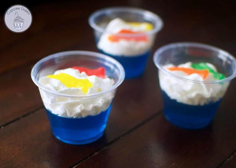 One FIsh Two Fish Jello Cups - A perfect snack for a Dr. Seuss party or  Read Across America Day!