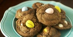 Chocolate Cadbury Mini Egg Cookies