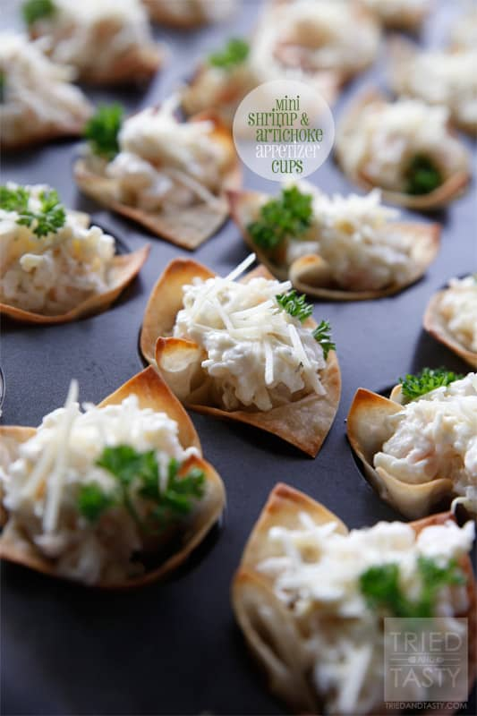 Mini Shrimp and Artichoke Appetizer Cups