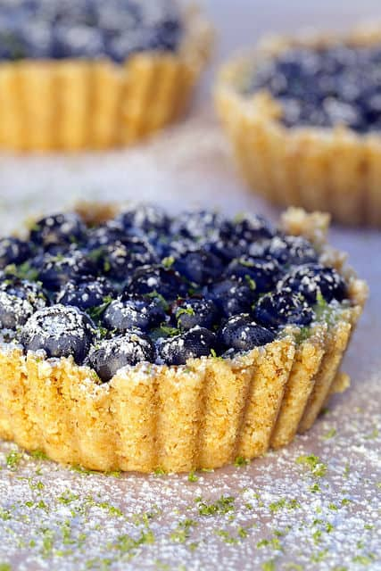 No Bake Blueberry Lime Curd Tarts