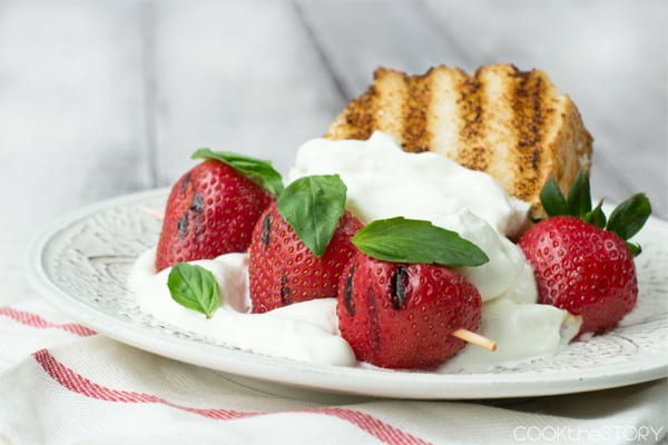 Grilled Strawberry Shortcake