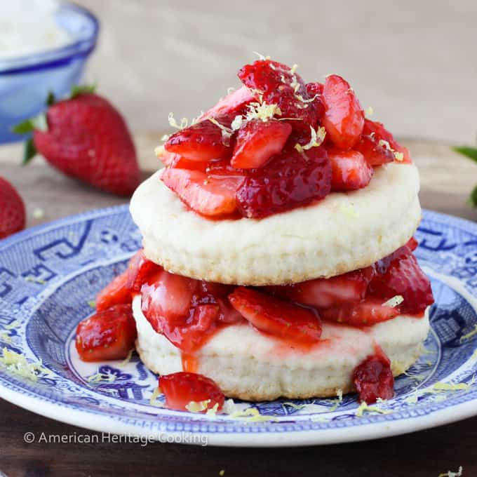 Easy Lemon Strawberry Shortcake for Two