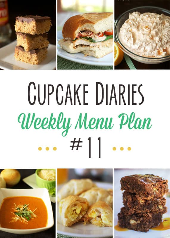 Cupcake Diaries Weekly Menu Plan #11 - A week's worth of dinner ideas and desserts all in one place!