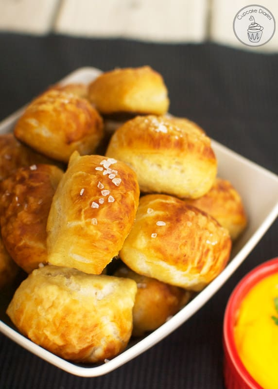Easy Soft Pretzel Bites - You won't believe how easy it is to make ...
