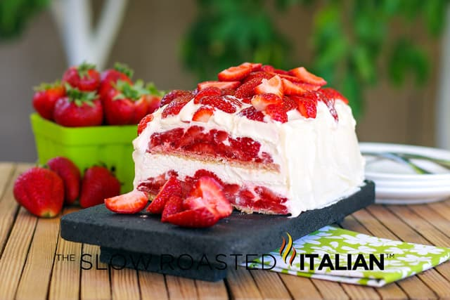 Strawberry Shortcake No-Bake Ice Box Cake
