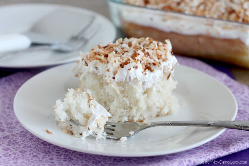 Coconut Cream Poke Cake