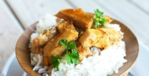 Grilled Orange Teriyaki Chicken and Rice