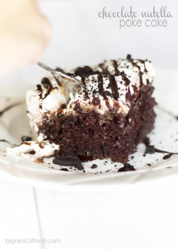 Chocolate Nutella Poke Cake